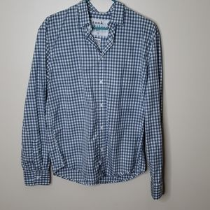 Frank & Eileen Plaid Blue and White Shirt